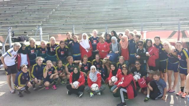 ISL Girls meet Swedish Women's National team